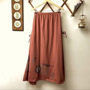 Lagenlook Vintage Maxi Skirt